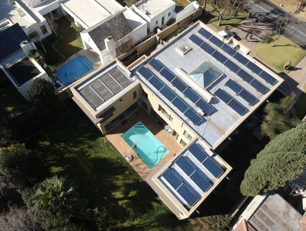 Aerial View of a Blockpower solar energy Installation
